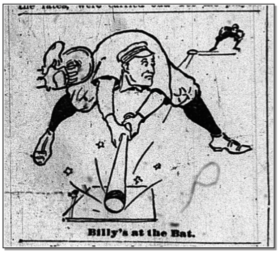 Billy Bottenus sketch, Buffalo Daily Courier