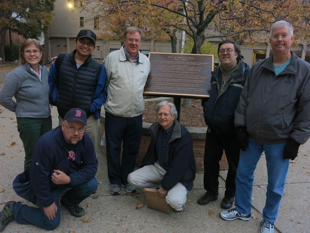Boston Chapter members at Braves Field site