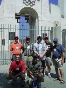 """Team Canada"" poses outside L.A. Coliseum"