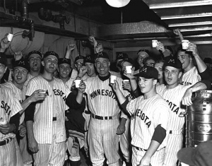 Minnesota Golden Gophers: Celebrating their 1960 College World Series championship