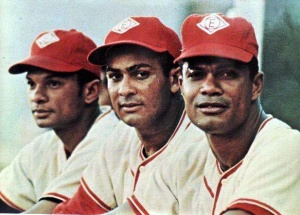 The Alou brothers: (l-r) Matty, Jesus and Felipe Alou.