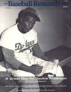 Jackie Robinson: On the cover of BRJ 26 in 1997
