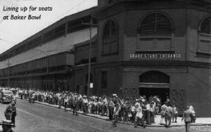 Baker Bowl, 1938: The main entrance of National League Park.