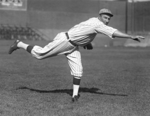 Leon Cadore: pitched 26 innings on May 1, 1920, good for a 112 Game Score. (His opponent, Joe Oeschger, also pitched all 26, but allowed fewer hits, netting an outsized 125 Game Score.)