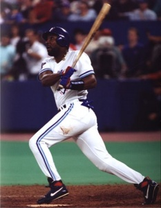 Joe Carter: hit 396 home runs in his major league career, but none bigger than his series-winning walk off in Game Six of the 1993 World Series.