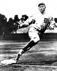 Ty Cobb: set many records in his Hall of Fame career. One of them was to be the first player to garner a reliably reported five-figure salary.