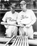 "Manager Harris, left, was not enamored of the ""commando"" training. The acquisition of 4-F players like Dahlgren (right) was crucial to the team's ability to win."
