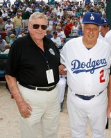 Dick Crago and Tommy Lasorda