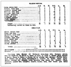 Box score, May 30, 1909