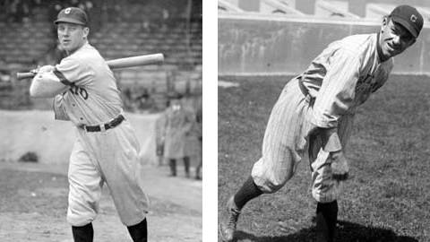 Platooned in left field, in 1920 and 1921, both hit well over .300.