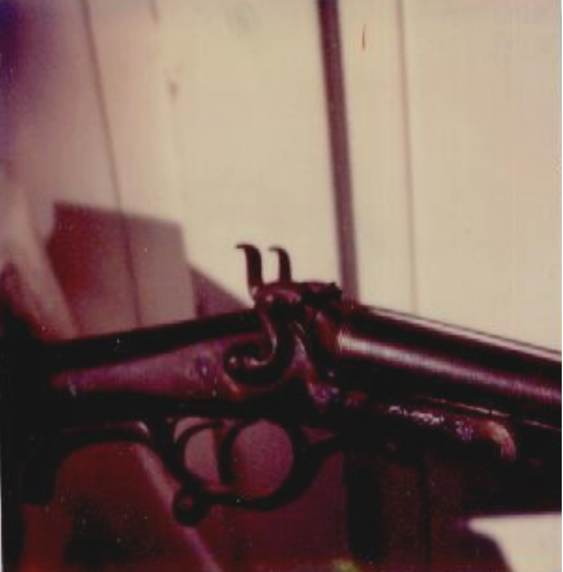 Photos of the Damascus-barreled double-barreled shotgun sent by Al Stump to Howard G. Smith.