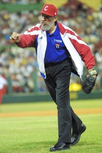 Fidel Castro: throws out the first pitch before a game in Havana in 2002.