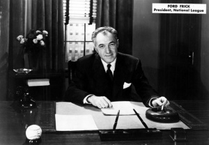 Ford Frick: NL president's reputation for blocking Bill Veeck's efforts to integrate MLB may not be warranted.