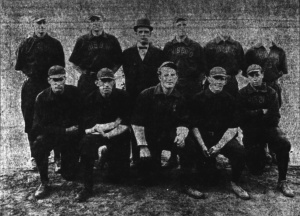 1910 Hibbing Colts: Dick Brookins is at far right, front row.