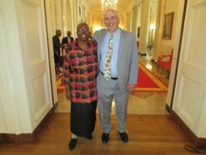 Geraldine Day and Larry Hogan