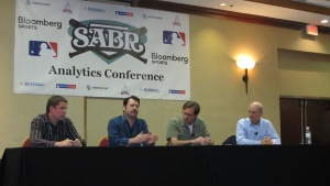 From left: Dave Cameron, Jay Jaffe, Rob Neyer, Vince Gennaro