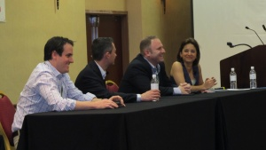 From left: Ryan Zander, Jeff Bennett, Rob Shaw, Michele Steele