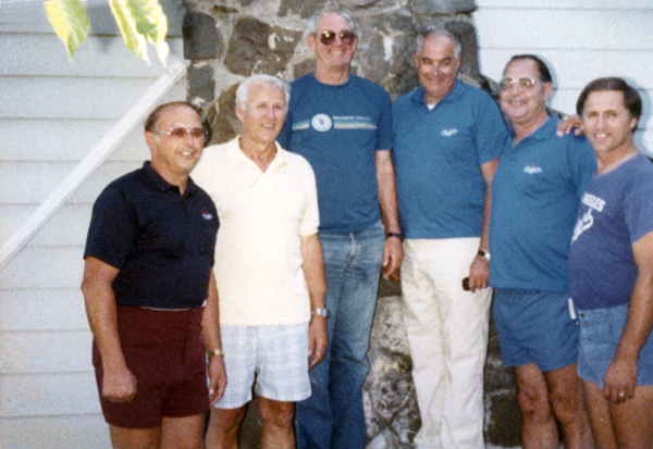 (Left to right) Bobby Miske, Dick Teed, Buzz Bowers, Steve Lembo, Gil Bassetti and Bill Fesh.