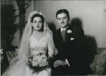 On their wedding day, January 28, 1940.