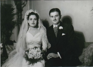 Fufila Garrido and Roberto Maduro: On their wedding day, January 28, 1940.