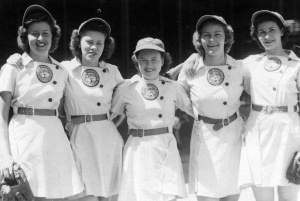 1944 Minneapolis Millerettes pitching staff
