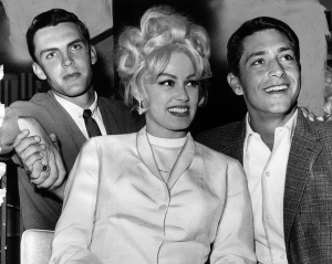 Dean Chance, actress Mamie Van Doren, Bo Belinsky: out on the town, April 5, 1963.
