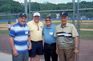 Peekskill celebration: Joe DeToia, Peter Mancuso, Dan Dondero, Carming DeRenzo