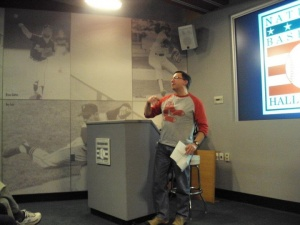 Mike Piazzi: makes a presentation on the history of Harry Pulliam