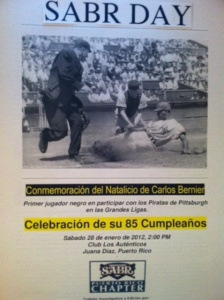 Commemorative publication for the Orlando Cepeda Chapter's SABR Day 2012 meeting