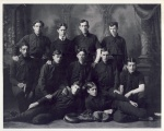 Marshall (second row, left) integrated the 1900 Minneapolis Central High School baseball team, above and broke the color line at the University of Minnesota.