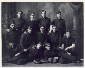 Bobby Marshall: Marshall (second row, left) integrated the 1900 Minneapolis Central High School baseball team, above and broke the color line at the University of Minnesota.
