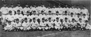1947 San Francisco Seals: Jack Brewer is top row, sixth from right.