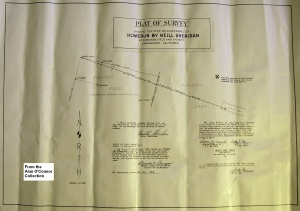 Muir & Train Plat of Survey: At the behest of the Solons, a surveying team from Muir & Train measured the distance of Neill Sheridan's home run at 613.80 feet.