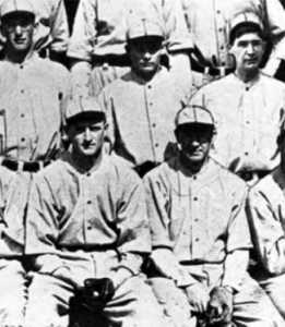 Jack Smith: (back row, center) who set a major league record by scoring on 65.4 percent of the times he reached base (53 runs on 86 TOB) in 1925.