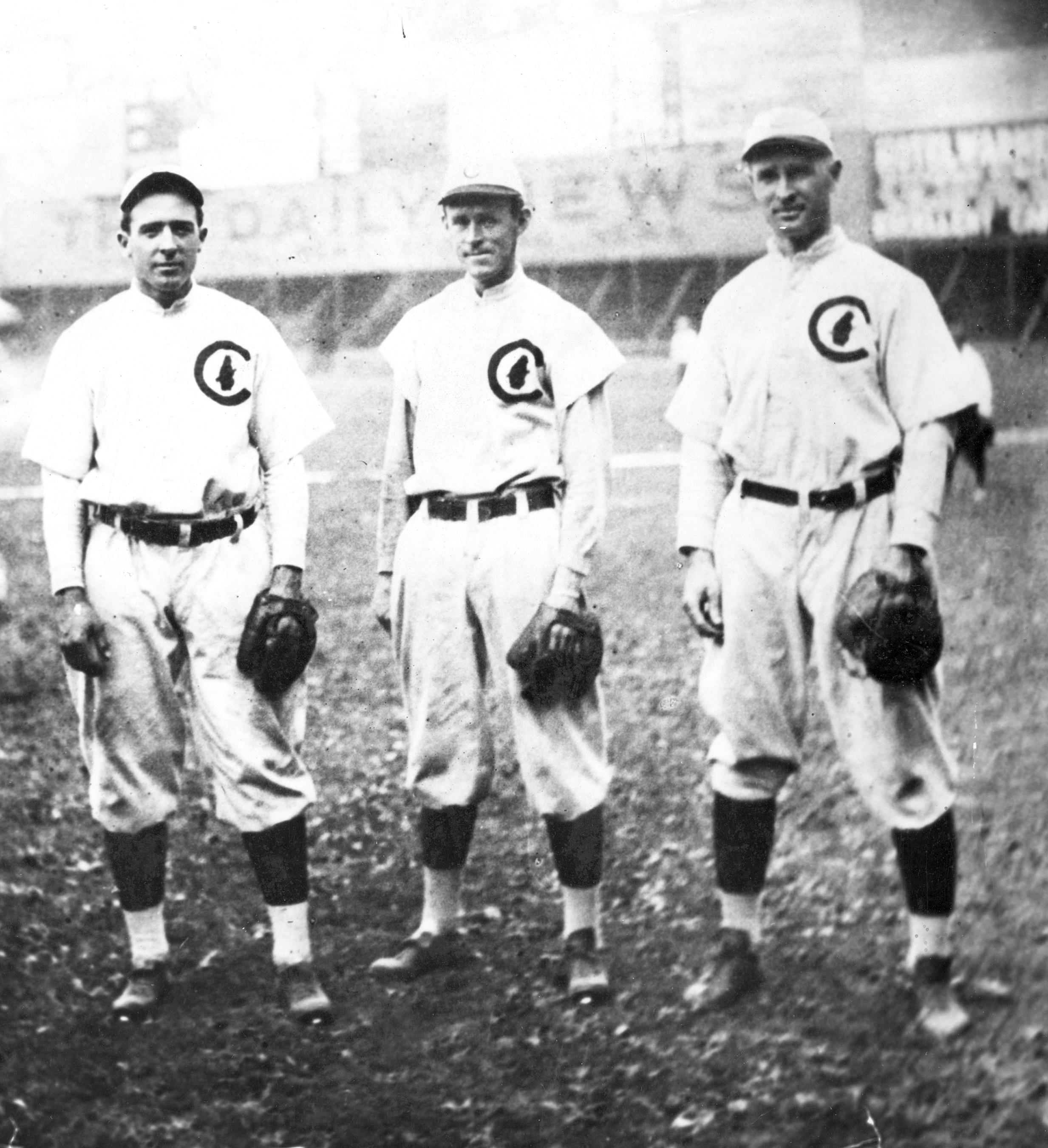 The defensive heart of the 1906–10 Cubs.