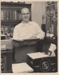 Pictured at his home office in 1955