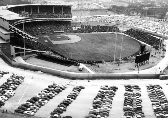 IIn its third season when it hosted the inaugural Global World Series in 1955.