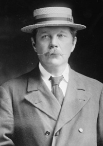 Sir Arthur Conan Doyle: Seen here in 1913, he made four trips to North America.