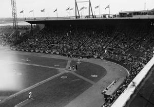 April 19, 1956: he first game the Dodgers played in Jersey City, when they beat the Phillies before 12,214 very cold fans.
