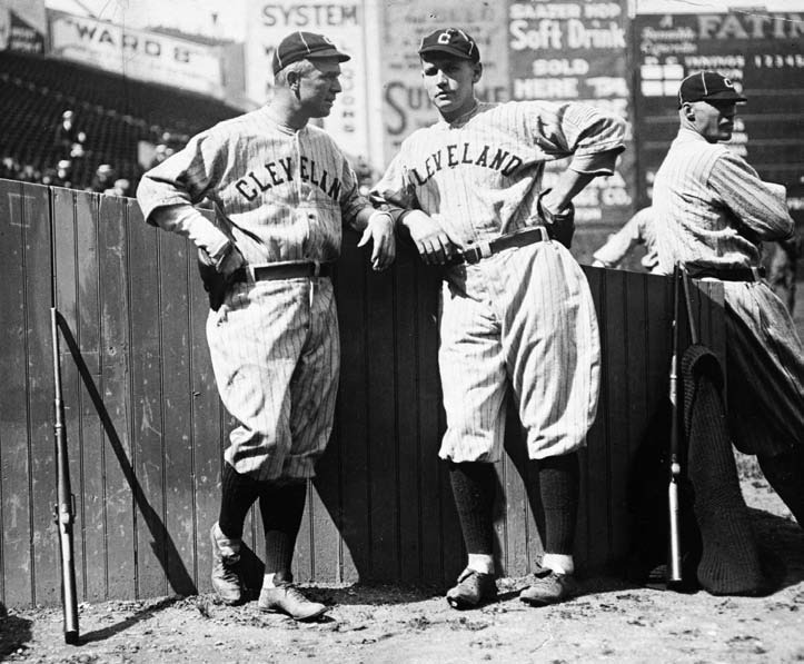 After Wood's (left) stellar career as a pitcher ended in his mid-twenties, the Indians acquired Speaker's old Red Sox roommate for $15,000.