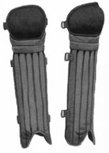 Cane shin guards, 1906