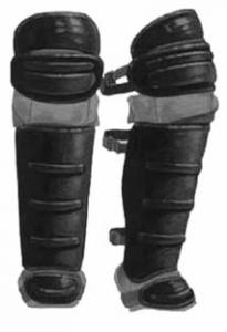 Hinged shin guards, 1950s