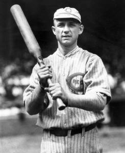 "Heinie Groh: Large barrel of his ""bottle bat"" gave him a bigger striking surface."