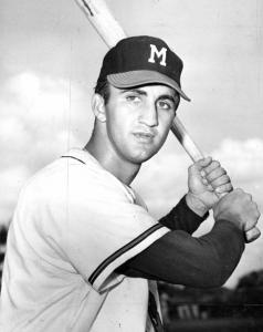 Frank Torre: Crackers first baseman, whose mother, sister, and brother Joe traveled from New York to Atlanta to watch his team in a crucial game against the rival Birmingham Barons on July 8, 1954.