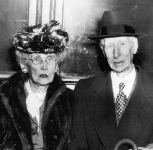 Katherine and Connie Mack, 1946: shown around the time they separated temporarily in a dispute over how Athletics' stock should be divided among the children of the first and second Mack marriages.