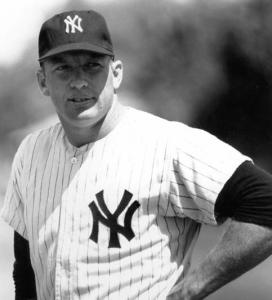 """Mickey Mantle: whose retirement in 1968 rather than his death in 1995 marked what biographer Jane Leavy describes as """"the end of America"""
