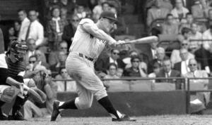 Roger Maris: was, like Mickey Mantle, a small-town boy thrust into the spotlight. His biographers portray the Yankee front office as derelict in not helping him deal with the media crush during the 1961 season, when he chased and eventually broke Ruth's single-season home-run record.