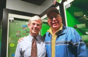 Brian Collins: Pictured at right with John O'Dell of the Baseball Hall of Fame.