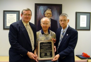 SABR founding members: Tom Hufford, Cliff Kachline, John Pardon (in 2006)