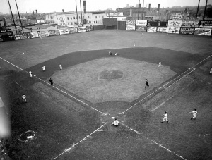 A panoramic look at Nicollet Park, 1954